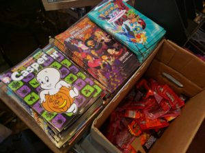 comics and candy at my local comic shop