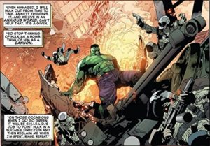 Panel from issue one of Indestructible Hulk