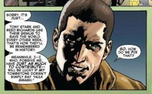 comic panel from Indestructible Hulk