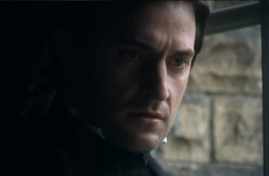 Actual screenshot of Richard Armitage Brooding like a pro in period dress.